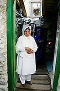 Women in their home in mountain village of Altit in Hunza region of Karokoram Mountains, Pakistan