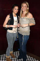 Left to right, VIOLET VON WESTENHOLTZ and the HON.KIRSTY HAMILTON-SMITH at a party to launch the Frankie's TLC Card and the TLC Clubcard held at Frankie's Knightsbridge, 3 Yeomans Row, London SW3 on 1st February 2006.<br />