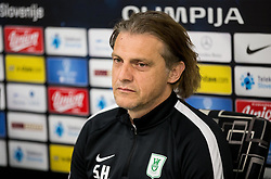 Safet Hadzic, new coach of NK Olimpija Ljubljana during press conference, on April 4, 2017 in SRC Stozice, Ljubljana, Slovenia. Photo by Vid Ponikvar / Sportida