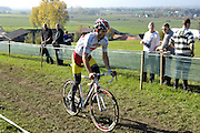 Belgium, November 1 2015:  GB's Ian Field warms up on the parcours during the  Koppenbergcross 2015 cyclocross event.<br /> Copyright 2015 Peter Horrell.