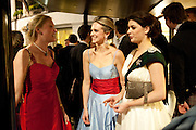 KATHERINE CARROLL; BRYONY DANIELS; GIOGINA RANAZZOTTI, The Royal Caledonian Ball 2011. In aid of the Royal Caledonian Ball Trust. Grosvenor House. London. W1. 13 May 2011.<br /> <br />  , -DO NOT ARCHIVE-© Copyright Photograph by Dafydd Jones. 248 Clapham Rd. London SW9 0PZ. Tel 0207 820 0771. www.dafjones.com.