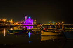May 4, 2017 - Molfetta, Italy / Bari, Italy - On the occasion of the eight stage of the Giro d'Italia, which started as Molfetta on May 13th, the city was full of pink not only unmistakable symbols of the city, the Cathedral, the Cathedral of Our Lady of the Martyrs but also a beautiful installation Of two hundred umbrellas open on Piazza Municipio, an unusual and evocative cover to greet the arrival of athletes. While waiting for cyclists, the city is pink, the color symbol of the competition, with the artistic installation 'La vie en rose' under the project 'Molfetta urban art' proposed and coordinated by the Pro Artibus association with the support of Stage committee. (Credit Image: © Davide Pischettola/Pacific Press via ZUMA Wire)