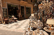 Antique shops in the main street Taormina, Sicily .<br /> <br /> Visit our SICILY PHOTO COLLECTIONS for more   photos  to download or buy as prints https://funkystock.photoshelter.com/gallery-collection/2b-Pictures-Images-of-Sicily-Photos-of-Sicilian-Historic-Landmark-Sites/C0000qAkj8TXCzro