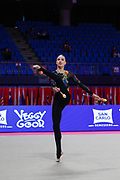 Fausta Sostakaite from Lithuania competing in the Rhythmic Gymnastics World Cup at Vitrifrigo Arena on 28/29 May 2021, Pesaro, Italy. She was born in Vilnius on June 22, 2004.<br /> .