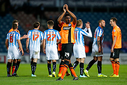 Rohan Ince of Brighton applauds the travelling fans after the match ends in a 1-1 draw - Photo mandatory by-line: Rogan Thomson/JMP - 07966 386802 - 21/10/2014 - SPORT - FOOTBALL - Huddersfield, England - The John Smith's Stadium - Huddersfield Town v Brighton & Hove Albion - Sky Bet Championship.
