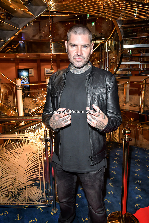 Shane Eamon Mark Stephen Lynch is an Irish singer-songwriter, actor and professional drift driver attend the Driving holiday experience hosts yacht party at The Sunborn Yacht, Royal Victoria Dock on 31 May 2019, London, UK.