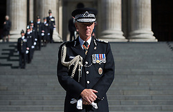 Metropolitan Police Commissioner Sir Bernard Hogan-Howe attends a service to commemorate National Police Memorial Day at St Paul's Cathedral in central London.