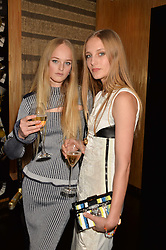 Left to right, JEAN CAMPBELL and OLYMPIA CAMPBELL at the Louis Vuitton for Unicef Event #MAKEAPROMISE held at The Apartment, 17-20 New Bond Street, London on 14th January 2016.
