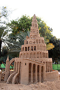 The Tower of Babel Biblical story Sand Sculpture