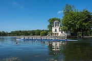Henley. Berks, United Kingdom. <br /> <br /> 2017 Henley' Women's Regatta. Rowing on, Henley Reach. River Thames. <br /> <br /> <br /> Saturday  17/06/2017<br /> <br /> <br /> [Mandatory Credit Peter SPURRIER/Intersport Images]