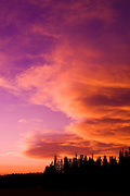 Sunset over Tuolumne Meadows, Yosemite National Park, California