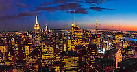 Midtown Manhattan Skyline at twilight, New York, New York USA.