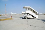 Israel, Ben-Gurion international Airport mobile stairs