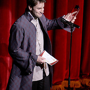 Jon Berry accepts the award for Best Newcomer at the Wilmington Theater Awards at Thursday January 23, 2014 at Thalian Hall. (Jason A. Frizzelle)