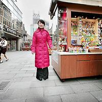 China,Shanghai ,maart 2008. Chinese modern toeristische winkelcentrum in  Shanghai.