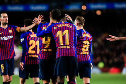 January 20, 2019 - Barcelona, BARCELONA, Spain - 11 Ousmane Dembele of FC Barcelona celebrating his goal with 09 Luis Suarez of FC Barcelona during the Spanish championship La Liga football match between FC Barcelona and CD Leganes on 20 of January 2019 at Camp Nou stadium in Barcelona, Spain (Credit Image: © AFP7 via ZUMA Wire)