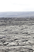 Barren lava field covering the township of Kalapana, on the Big Island of Hawaii.