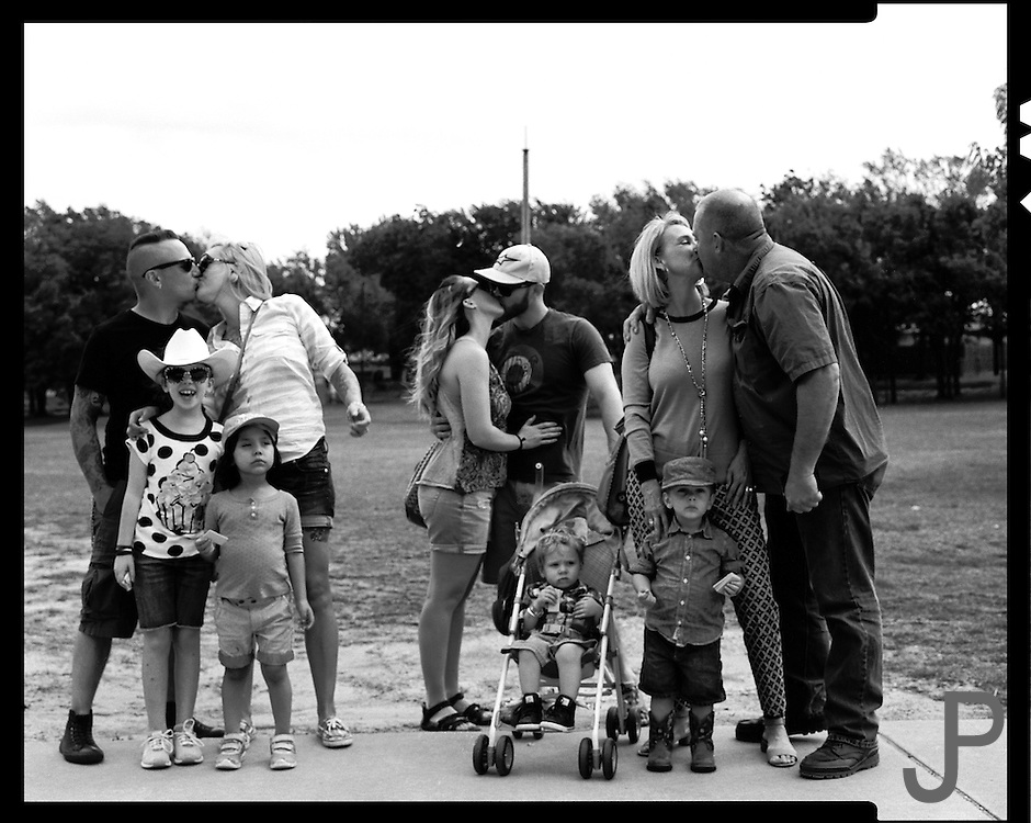 Pratt family gathering at Adam and Cheri Pratt's house for Jamison's 3rd birthday party. We went to the park in Yukon and captured these images on my Toyo 45a 3x5 view camera.