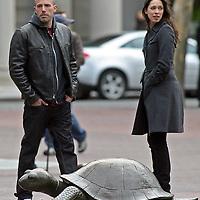 Ben Affleck and Michelle Monaghan film Gone Baby Gone in Boston,MA. Photo by Mark Garfinkel