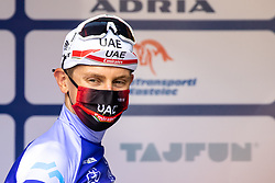 Tadej POGACAR of UAE TEAM EMIRATES in blue jersey at trophy ceremony during the 5th Stage of 27th Tour of Slovenia 2021 cycling race between Ljubljana and Novo mesto (175,3 km), on June 13, 2021 in Slovenia. Photo by Matic Klansek Velej / Sportida