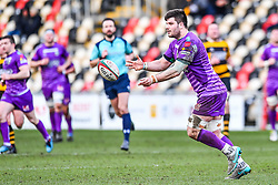 Ebbw Vale's Lewis Young in action - Mandatory by-line: Craig Thomas/Replay images - 04/02/2018 - RUGBY - Rodney Parade - Newport, Wales - Newport v Ebbw Vale - Principality Premiership