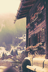Old wooden house in the alps