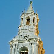 "La Catedral in Plaza de Armas in lovely Arequipa, Peru, the ""White City""."