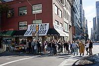 street scene in New York City in October 2008