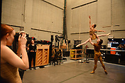 MANHATTAN, NEW YORK, OCTOBER 19, 2016 Alban Lendorf, the newest male principal at ABT, is seen backstage after his debut performance with the company, performing two ballets, Symphonic Variations and The Brahms Haydn Variations, at the Koch Theater in Lincoln Center in Manhattan, NY.  Lendorf is seen after the second dance with Isabella Boylston as Gillian Murphy takes a photo. 10/19/2016 Photo by ©Jennifer S. Altman/For The New York Times