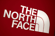 Sign for the high street clothing brand The North Face in Birmingham, United Kingdom.