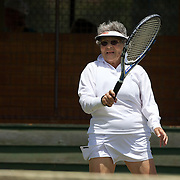 Rita Price, USA, winning  the 80 Womens Singles Final during the 2009 ITF Super-Seniors World Team and Individual Championships at Perth, Western Australia, between 2-15th November, 2009