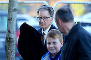 Liverpool Principal Owner John W Henry arrives at the stadium ahead of the game. Premier League match, Liverpool v Sunderland at the Anfield stadium in Liverpool, Merseyside on Saturday 26th November 2016.<br /> pic by Chris Stading, Andrew Orchard sports photography.