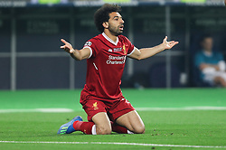 Mohamed Salah of Liverpool reacts during the UEFA Champions League final football match between Liverpool and Real Madrid at the Olympic Stadium in Kiev, Ukraine on May 26, 2018. Photo by Andriy Yurchak / Sportida