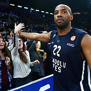 Anadolu Efes's Alfred Jamon Lucas during their Euroleague Top 16 game 8 basketball match Anadolu Efes between CSKA Moscow at the Abdi Ipekci Arena in Istanbul at Turkey on Friday, February, 22, 2013. Photo by TURKPIX