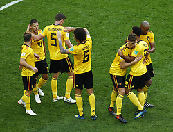 July 14, 2018 - Saint Petersburg, Russia - England v Belgium - Play off for third place final FIFA World Cup Russia 2018.Eden Hazard (Belgium) celebrates with the teammates after the goal scored at Saint Petersburg Stadium in Russia on July 13, 2018. (Credit Image: © Matteo Ciambelli/NurPhoto via ZUMA Press)