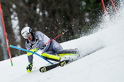 """Robin Buffet (FRA) competes during 1st Run of FIS Alpine Ski World Cup 2017/18 Men's Slalom race named """"Snow Queen Trophy 2018"""", on January 4, 2018 in Course Crveni Spust at Sljeme hill, Zagreb, Croatia. Photo by Vid Ponikvar / Sportida"""