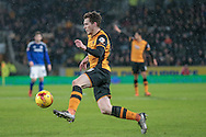Andrew Robertson (Hull City) during the Sky Bet Championship match between Hull City and Cardiff City at the KC Stadium, Kingston upon Hull, England on 13 January 2016. Photo by Mark P Doherty.