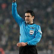 Referee's Bulent Yildirim during their Turkish superleague soccer match Fenerbahce between Sivasspor at the Sukru Saracaoglu stadium in Istanbul Turkey on Saturday 18 February 2012. Photo by TURKPIX