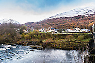 Dawn breaks over Kinlochleven in the Highlands of Scotland.