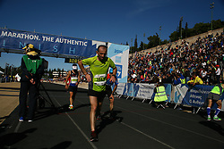 November 13, 2016 - Athens, Greece - 50.000 long range runners take part in the 42 killometers long Athens Marathon the Authentic in Greece starting from the City of Marathona and ending at Kalimarmaro Stadium in Athens. (Credit Image: © George Panagakis/Pacific Press via ZUMA Wire)
