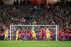 March 22, 2019 - Lisbon, Portugal - Andriy Pyatov from Ukraine in action during the Qualifiers - Group B to Euro 2020 football match between Portugal vs Ukraine. (Credit Image: © Henrique Casinhas/SOPA Images via ZUMA Wire)