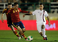 Spain's Koke (l) and Norway's Singh during international sub21 match.March 21,2013. (ALTERPHOTOS/Acero)