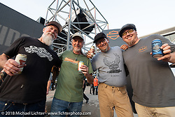 Dave, Pat Simmons, Bill Rodencal and Jason Sims at the Harley-Davidson Museum, where the multi-acre campus acted as the central rally point during the Harley-Davidson 115th Anniversary Celebration event. Milwaukee, WI. USA. Saturday September 1, 2018. Photography ©2018 Michael Lichter.