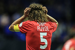 14 July 2017 -  Star Sixes Football - Carles Puyol of Spain adjusts his headband - Photo: Marc Atkins / Offside.