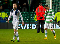 27/11/14 UEFA EUROPA LEAGUE<br /> CELTIC v SALZBURG<br /> CELTIC PARK - GLASGOW<br /> Dejection for Celtic's Stefan Johansen (left) and Alexandar Tonev at the full time whistle