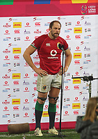 Rugby Union - 2021 British & Irish Lions Tour of South Africa - Second Test: South Africa vs British & Irish Lions<br /> <br /> Alun Wyn Jones interviewed after the game, at Cape Town Stadium, Cape Town.<br /> <br /> COLORSPORT / JOHAN ORTON