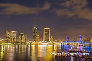 63412-01305 City Skyline and  St. Johns River, Jacksonville, FL