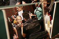 Fashion Week, Paris..The show of Emanuel Ungaro -.backstage before the show