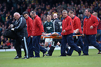 Photo: Tony Oudot.<br /> Watford v Newcastle United. The Barclays Premiership. 13/05/2007.<br /> Shay Given looks on concerned as Michael Owen of Newcastle is stretchered off injured