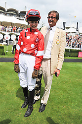 EDIE CAMPBELL and her father RODDY CAMPBELL at the 3rd day of the 2011 Glorious Goodwood Racing Festival - Ladies Day at Goodwood Racecourse, West Sussex on 28th July 2011.